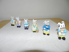 Toilet Bunnies Family Figurines 6pc Set Novelties Animals