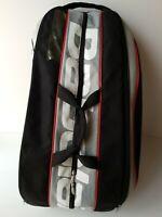 Babolat Team Tennis Bag 6 Racquet Dual Shoulder Straps Black Gray Red Carry Bag