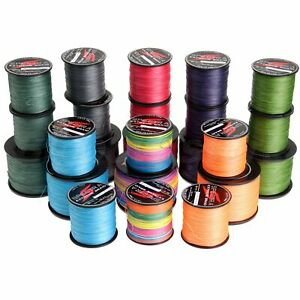 8 Strands Strong Braided PE Dyneema Sea Fishing Line 300M 500M 1000M Multicolor