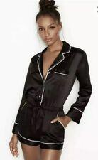 Victoria's Secret Rhinestone and Satin Romper ~ Size Medium