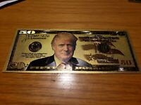 Donald Trump Gold $50 Bill With Amazing Color & Beautiful Detail On These Bills