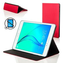 Piel Rojo Smart Funda para Samsung Galaxy Tab a 9.7 + Protector de Pantalla &