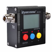 Radioddity Surecom SW-102 Digital Antenna Power &SWR Meter VHF/UHF 125-525MHz