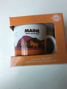 Vintage  Donut Dunkin Donuts Coffee Cup. State Of Maine Rare Cup
