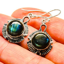"Labradorite 925 Sterling Silver Earrings 1 1/2"" Ana Co Jewelry E407036F"