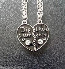 2cm Big Sister Little Sister Heart Necklace (41cm chain)