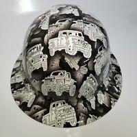 NEW FULL BRIM Hard Hat custom hydro dipped in JEEP CAMO renegade , cj7, wrangler