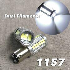Rear Turn Signal Light 1157 2057 3496 7528 33 SMD BAY15D White LED Bulb W1 JAE