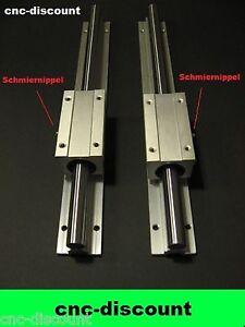 CNC Set 20x 550mm 2x lange Linearwagen Linearführung Linear Guide Rail  3D Fräse