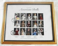 USPS CLASSIC AMERICAN DOLL STAMPS FIRST DAY ISSUE FULL SHEET 32 CENT STAMPS GOLD