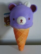 Jumbo Berry Purple Rilakkuma Bear Ice Cream Cone Kawaii Squishy SHIPS FROM US
