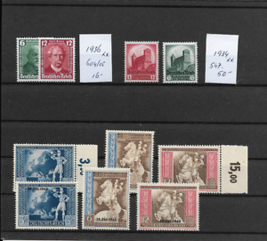 Germany  3th Reich @  1936-1942  Good  Sets  MNH  € 80.00  @  pce122-754