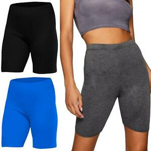 Ladies Cycling Shorts Casual Active Dancing Hot Pants Leggings Stretch Cotton