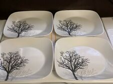 """Lot of 4 Corelle Timber Shadows Luncheon or Salad Plates 9"""" Excellent Condition"""
