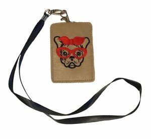 Frenchie Bulldog ID Lanyard Wallet