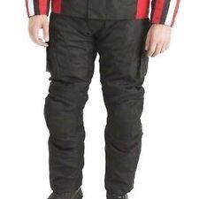 Pantaloni neri in tessuto per motociclista Donna