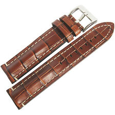 20mm Di-Modell Bali Chrono Tan German Alligator-Grain Leather Watch Band Strap