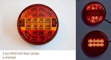 2 x 24V E-Prüfzeichen SMD LED hinteren RÜCKLEUCHTEN LAMPEN für LKW