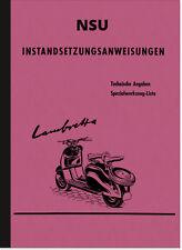 NSU Lambretta istruzioni di riparazione SCOOTER istruzioni di montaggio di Officina Manuale
