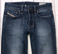 Mens DIESEL Larkee Jeans W28 L32 Blue Regular Straight Wash 008J4