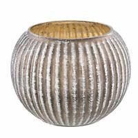 Windlicht Teelichthalter Kerzenständer Glas Ornament Shabby Ø14xH11cm Clayre&Eef