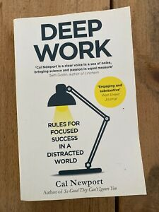 Deep Work Book Paperback Cal Newport