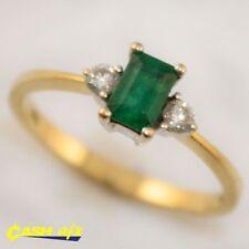 Multi-Tone Gold Emerald Fine Rings