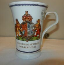 Dunoon Mug Fine Bone China  QUEEN MOTHER 100th Yrs Commemorative