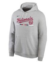 Washington Nationals Hoodie Mens Small to 2XL Gray Nike Baseball Fan Sweatshirt