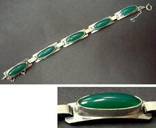 GEORG KRAMER Armband - Silber 835_ grüner Achat- FISCHLAND -bracelet_green agate