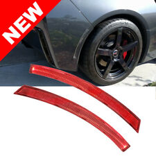 2014-2017 Corvette C7 Z06 Rear Bumper Reflector Eliminator Replacement Set - Red