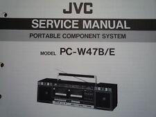 JVC PC-W47 portatile Componente Sistema Manuale servizio riparazione parti di Cablaggio Diagramma