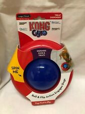 KONG Gyro Spin Treat Food Dispenser Roll & Flip Toy LARGE Dog New