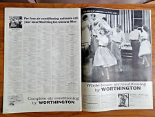 1957 Worthington Ad Whole-House Air Conditioning