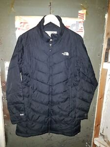 The North Face 600 Goose Down Small Long  Black Vintage Nuptse Lovely Condition