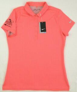 NEW! Nike Women's Precision Texture Golf Polo Arnold Palmer Invitational Orange