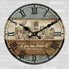 Vintage Rustic Shabby Chic Retro Wooden Digital Wall Clock Decor Gifts #8