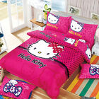 Lace Kitty Single Double Queen Size Bed Set Pillowcase Quilt Duvet Cover