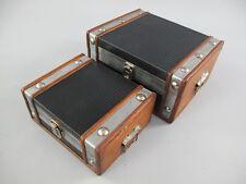 Koffer Dekokoffer Truhe 2er Set Antikoptik Leder Vintage Oldtimer 325.028
