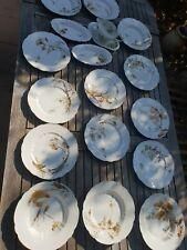Service de table porcelaine A.Maire h&c art nouveau 1900 assiettes **