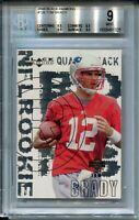 2000 Black Diamond Football 126 Tom Brady Rookie Card RC Graded BGS Mint 9
