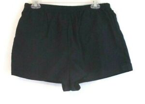 Lands' End Running Short Shorts Navy Blue Sz 14 Pull On Lined Womens ZN23