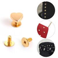 Handbag Leather Craft DIY Heart-Shaped Rivets Craft Studs Shoes Hardware Hat