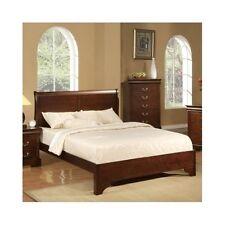 Queen Sleigh Bed Frame Wood Headboard Solid Elegant Furniture Classic Bedroom
