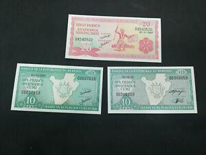 BURUNDI 10-20 FRANCS 1997-2007 UNC