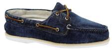 Zapatos informales de hombre náuticos textil de color principal azul