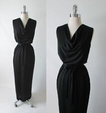 Vintage 60's Star Black Grecian Column Cocktail Dress Full Length Evening Gown M