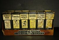 Vintage 1946 Disney Mickey Mouse Library of Card Games By Russell Mfg Vol 1-6