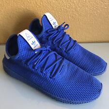 New listing Adidas Pharrell PW Tennis HU Blue Mesh Athletic Shoes   Men's Size 10   CP9766