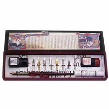 CALLIGRAFIA Set,Legno Penna,pennini e inchiostro bottiglie grande regalo (2301)